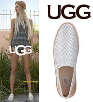 UGG Australia Round Toe Rubber Sole Casual Style Blended Fabrics