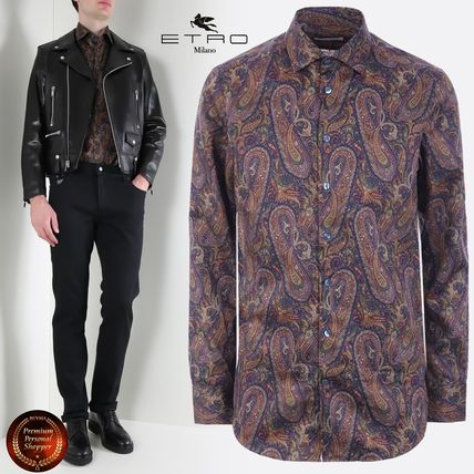 Paisley Long Sleeves Cotton Shirts