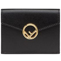 FENDI F IS FENDI Calfskin Plain Folding Wallet Folding Wallets