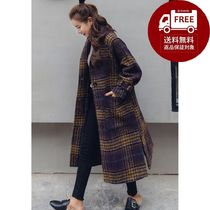 Other Check Patterns Long Oversized Coats