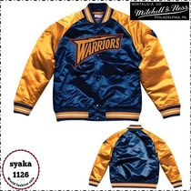 Mitchell&Ness Short Street Style Plain Varsity Jackets