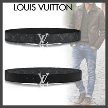Louis Vuitton MONOGRAM Monogram Blended Fabrics Street Style Bi-color Leather