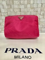 PRADA BIBLIOTHEQUE Plain Pouches & Cosmetic Bags