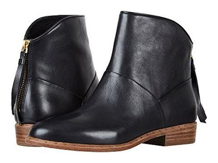 UGG Australia Ankle & Booties Round Toe Casual Style Tassel Street Style Plain Leather 2