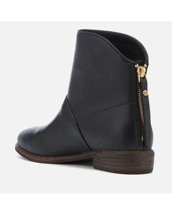 UGG Australia Ankle & Booties Round Toe Casual Style Tassel Street Style Plain Leather 3
