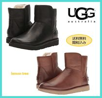 UGG Australia ABREE MINI Round Toe Casual Style Plain Leather Ankle & Booties Boots