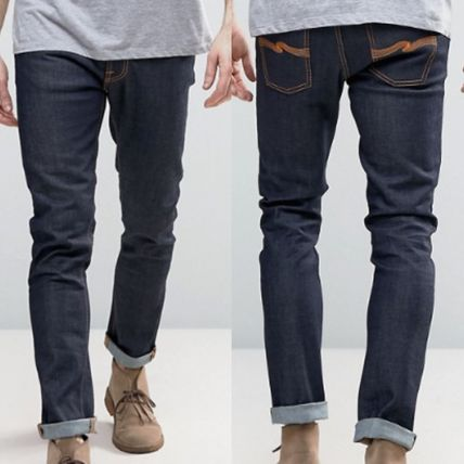 Tapered Pants Cotton Jeans
