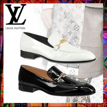 Louis Vuitton Plain Toe Moccasin Plain Leather Loafers & Slip-ons