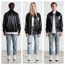 Ron Herman Short Casual Style Unisex Plain Varsity Jackets