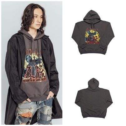 Street Style Long Sleeves Cotton Oversized Hoodies