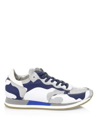 Camouflage Street Style Leather Sneakers