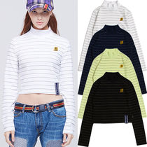ROMANTIC CROWN Stripes Casual Style Street Style Long Sleeves Medium
