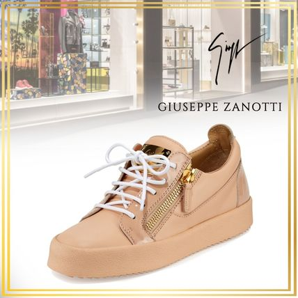 4f669531f6725 ... GIUSEPPE ZANOTTI Low-Top Casual Style Plain Leather Low-Top Sneakers ...