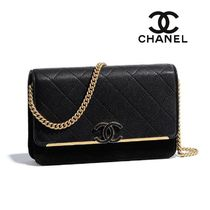 CHANEL Plain Leather Shoulder Bags