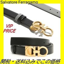Salvatore Ferragamo Plain Leather Belts