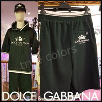 Dolce & Gabbana Street Style Cotton Joggers Shorts