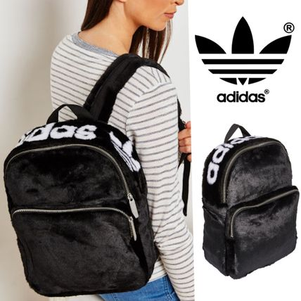 Casual Style Unisex Faux Fur Street Style A4 Plain Backpacks