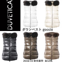DUVETICA Short Fur Blended Fabrics Plain Down Jackets