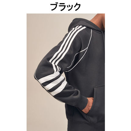 adidas Hoodies Pullovers Stripes Street Style Long Sleeves Plain Cotton 7