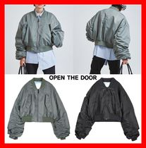 OPEN THE DOOR Casual Style Unisex Street Style MA-1 Bomber Jackets