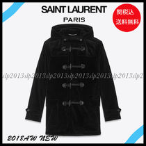 Saint Laurent Blended Fabrics Plain Long Duffle Coats