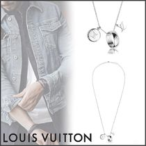 Louis Vuitton MONOGRAM Monogram Street Style Chain Silver Necklaces & Chokers