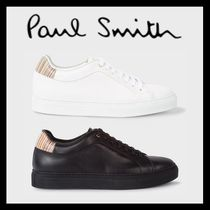 Paul Smith Stripes Plain Leather Deck Shoes Loafers & Slip-ons