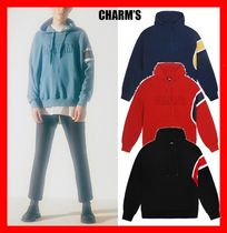 Charm's Unisex Street Style Long Sleeves Cotton Hoodies