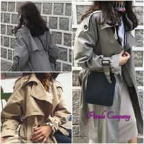 Stand Collar Coats Casual Style Long Trench Coats