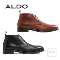 ALDO Plain Toe Plain Leather Oversized Chukkas Boots