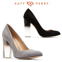Katy Perry Suede Block Heels Party Style Block Heel Pumps & Mules