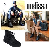 Melissa Lace-up Casual Style Unisex Street Style Rain Boots Boots