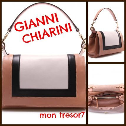 A4 Plain Leather Handmade Office Style Shoulder Bags