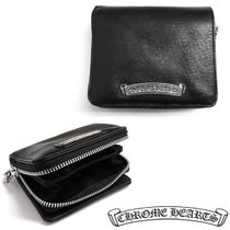 CHROME HEARTS Unisex Plain Folding Wallets