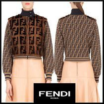 FENDI Monogram Casual Style Blended Fabrics Medium Jackets