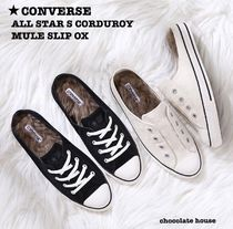 CONVERSE ALL STAR Casual Style Suede Plain Low-Top Sneakers