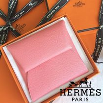 HERMES Bastia Unisex Leather Coin Purses
