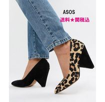 ASOS Leopard Patterns Casual Style Bi-color Leather