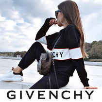 GIVENCHY Crew Neck Stripes Casual Style Unisex Wool Street Style