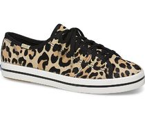 kate spade new york Leopard Patterns Round Toe Rubber Sole Lace-up Casual Style