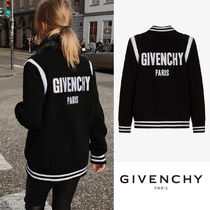 GIVENCHY Wool Street Style Plain Medium Varsity Jackets