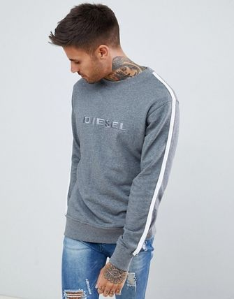DIESEL Sweatshirts Crew Neck Unisex Street Style Long Sleeves Cotton 2
