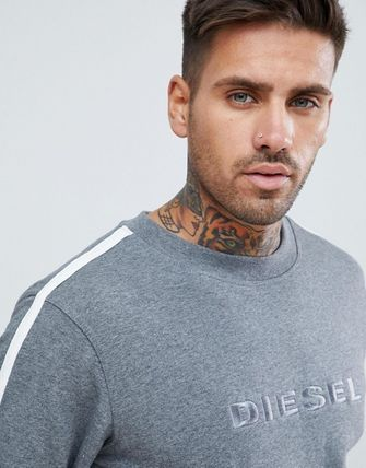 DIESEL Sweatshirts Crew Neck Unisex Street Style Long Sleeves Cotton 4
