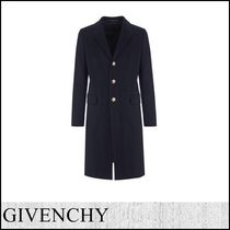 GIVENCHY Cashmere Street Style Plain Long Chester Coats