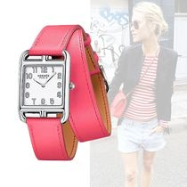 HERMES Casual Style Square Quartz Watches Stainless Analog Watches