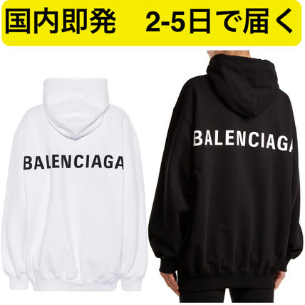 Casual Style Unisex Street Style Long Sleeves Plain Cotton