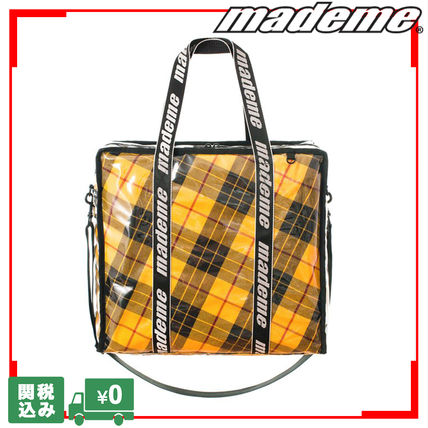 Casual Style Unisex Street Style Collaboration A4 Totes