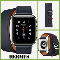 HERMES Casual Style Unisex Collaboration Leather Handmade Watches