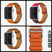 HERMES Unisex Collaboration Leather Handmade Elegant Style Watches