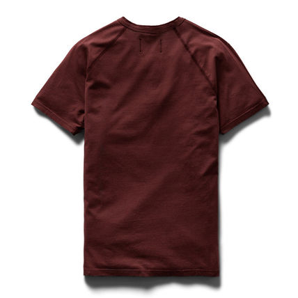 REIGNING CHAMP Pullovers Unisex Henry Neck Plain Cotton Short Sleeves
